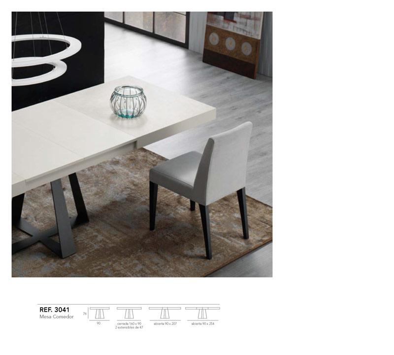 Ficha técnica de mesa de comedor blanco y negro 14b-0013