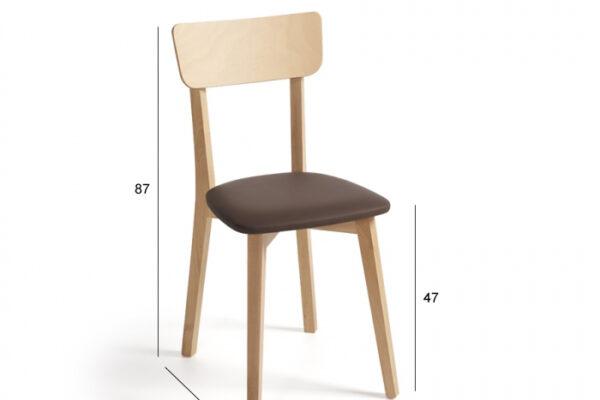 Ficha técnica de silla de cocina 15c-0009