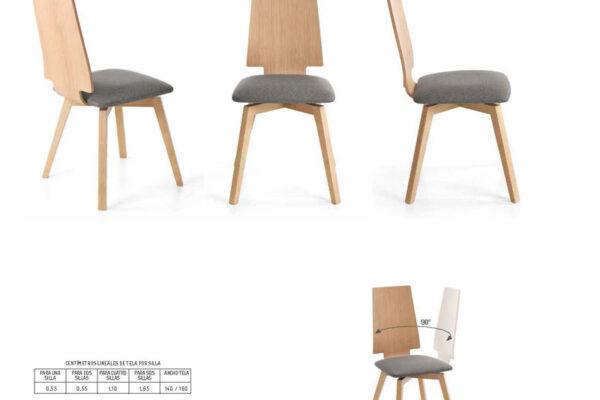 Ficha técnica de sillas giratorias de comedor 14f-0004