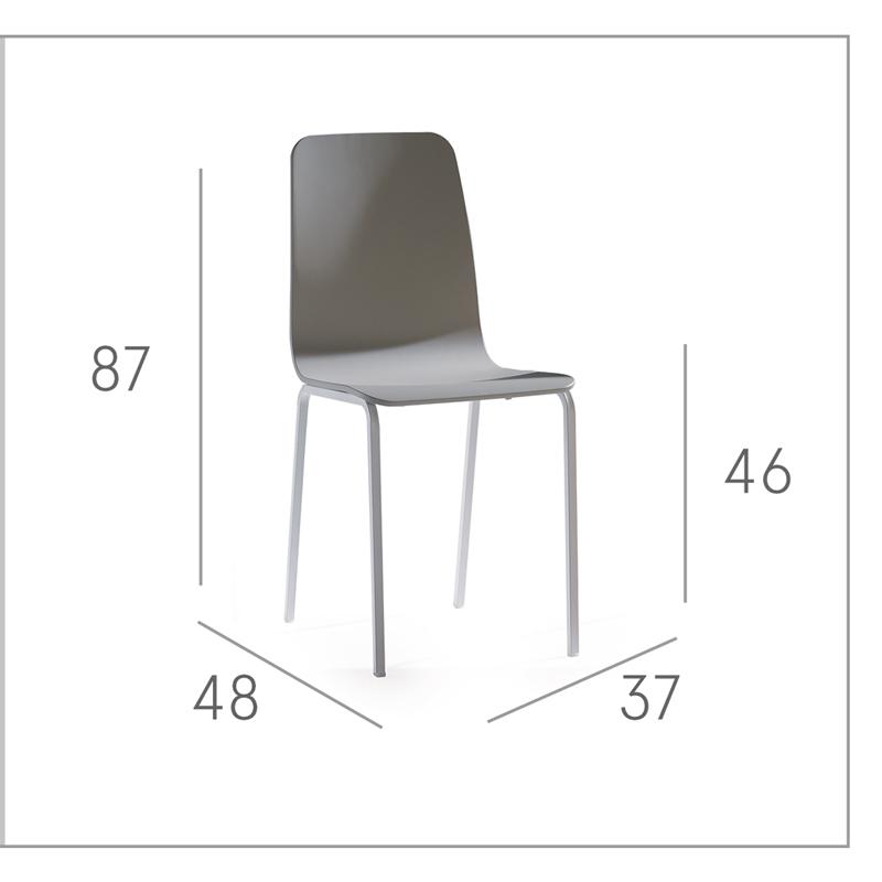 Ficha técnica de sillas de cocina 15c-0004
