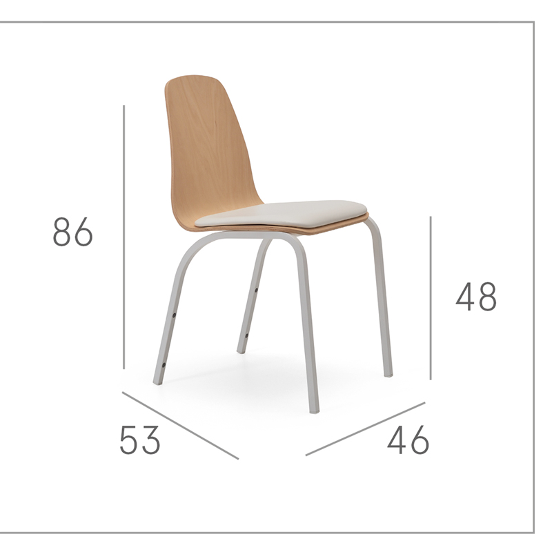 Ficha técnica de sillas de cocina 15c-0006