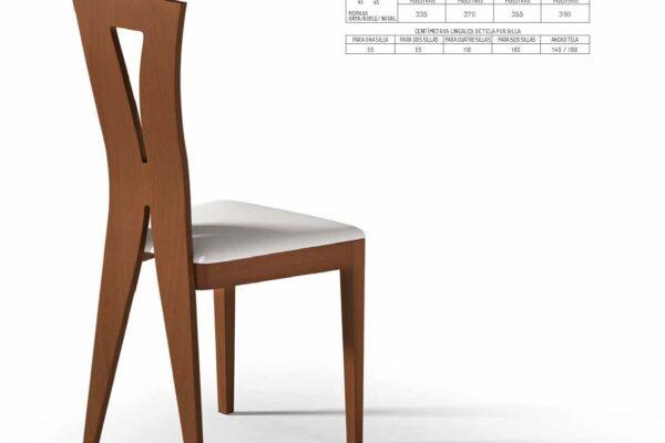 Ficha técnica de sillas de comedor 14f-00009