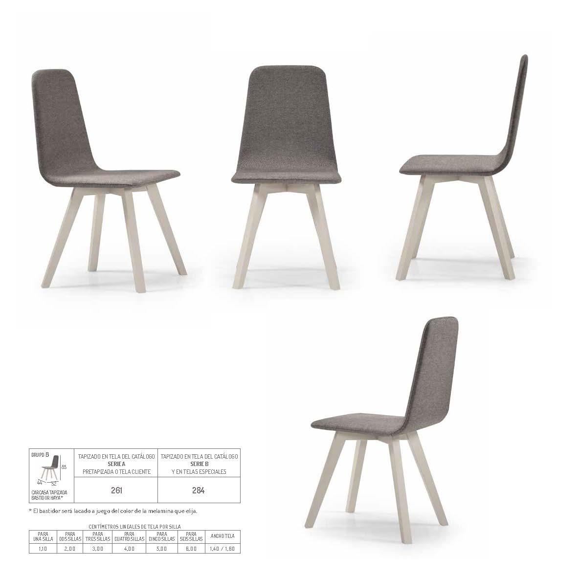 Ficha técnica de sillas de comedor 14f-0014