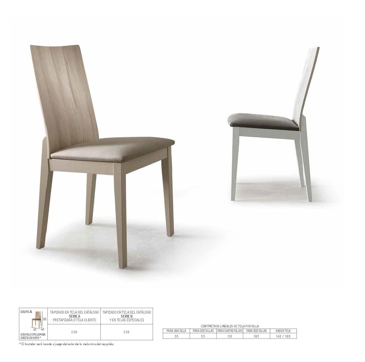 Ficha técnica de sillas de comedor 14f-0020