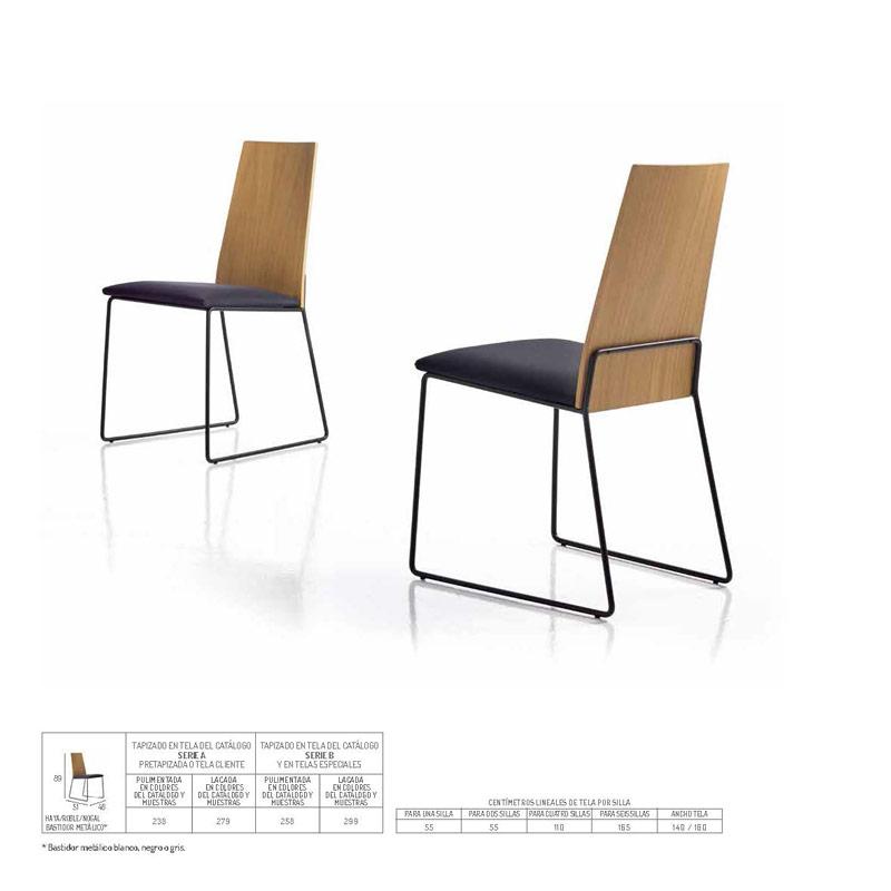 Ficha técnica de sillas de comedor 14f-0021