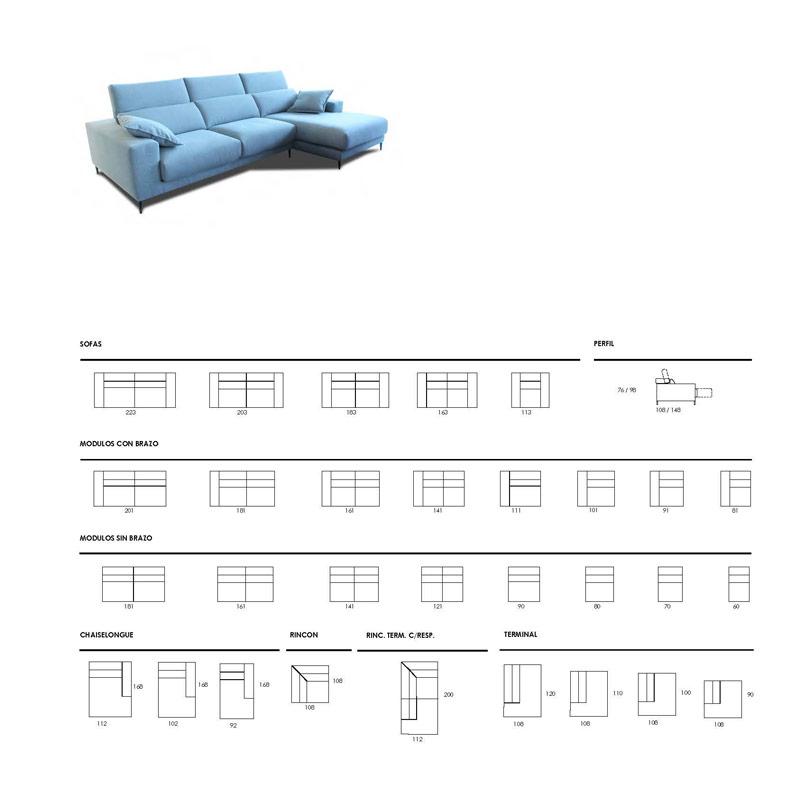 Ficha técnica sofá 10b-0001-10d-0001
