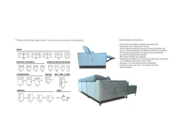 Ficha técnica de sofá 10b-0002-10d-0002