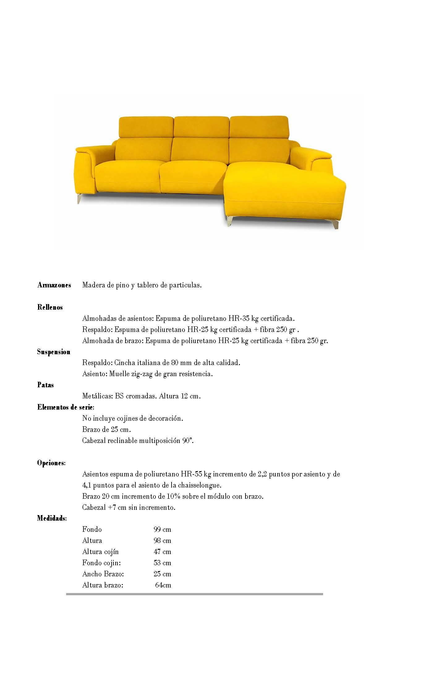 Ficha técnica de sofá 10b-0024-10d-0023