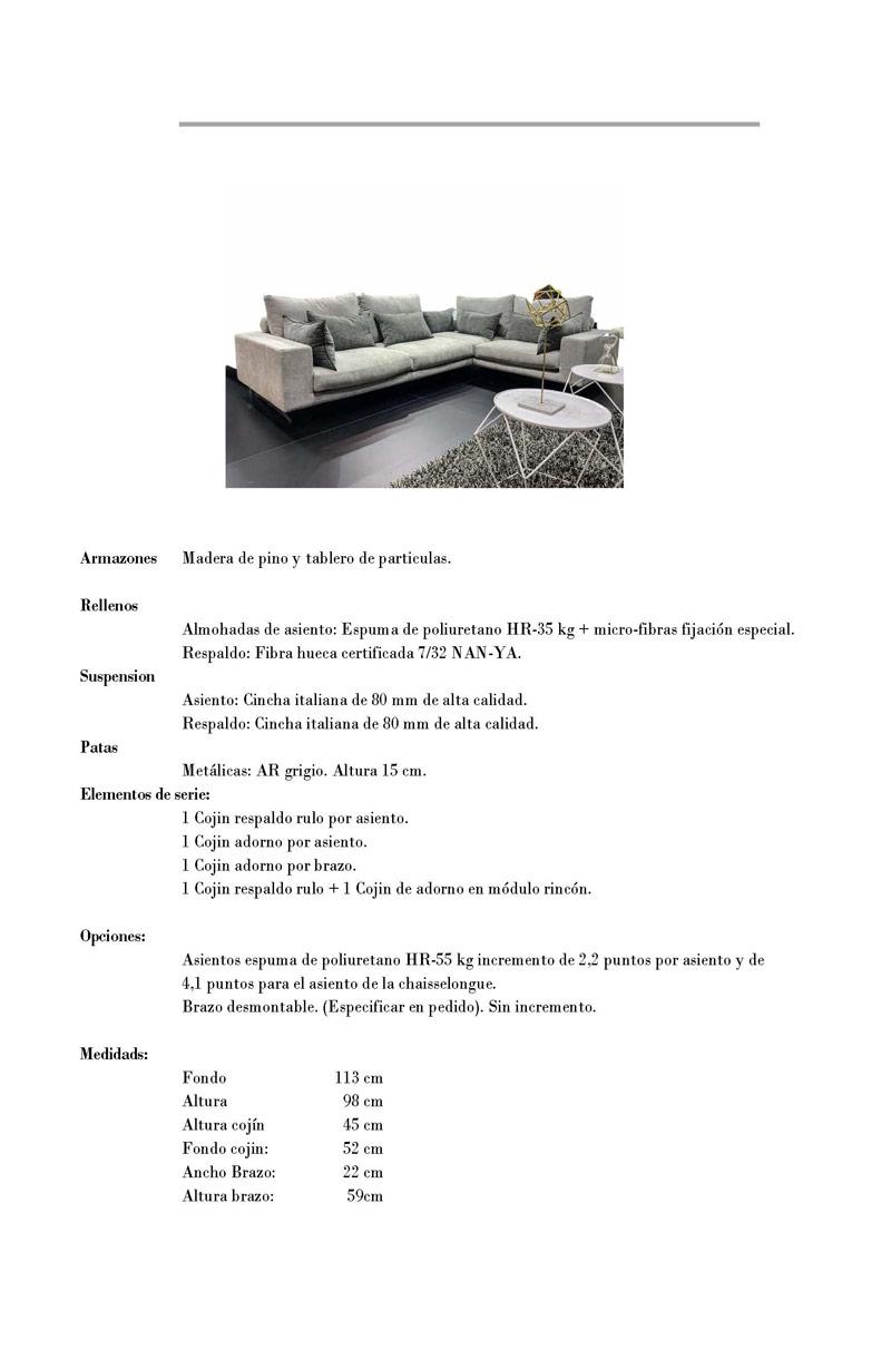 Ficha técnica sofá 10c-0014