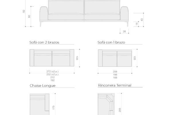 Ficha técnica de sofás 10a-0006
