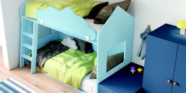 Habitación kids con litera 12e-0009 color azul vista de detalle