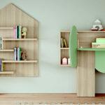 Muebles de habitación kids 12i-0004 verde y madera vista de detalle