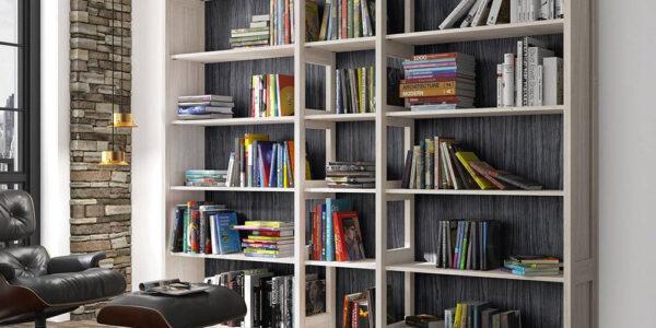 Mueble auxiliar librería 13c-0010 madera beige vista general