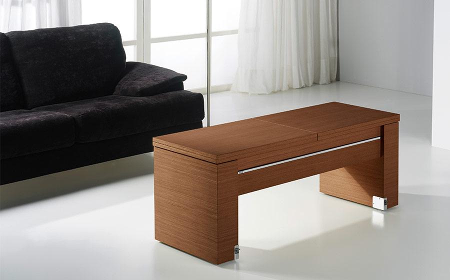 Mesa auxiliar extensible 14e-0011 madera vista ambiente