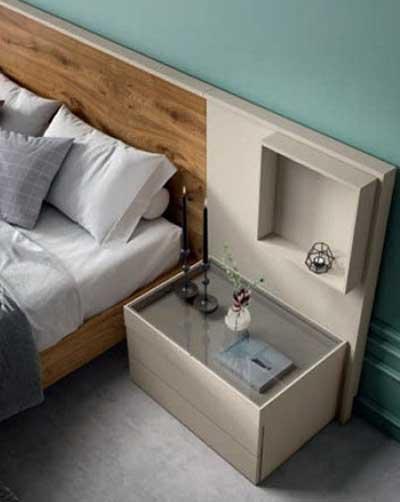 Mesa y cabecero de dormitorio de matrimonio 11a-0008 vista de detalle