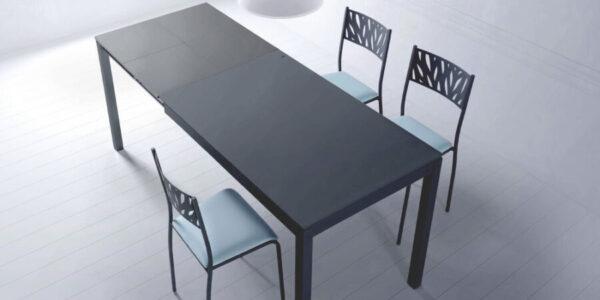 Mesa de cocina 15b-0003 color gris vista ambiente
