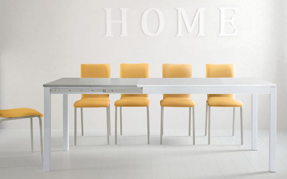 Mesa de cocina 15b-0003 color naranja y blanco vista frontal