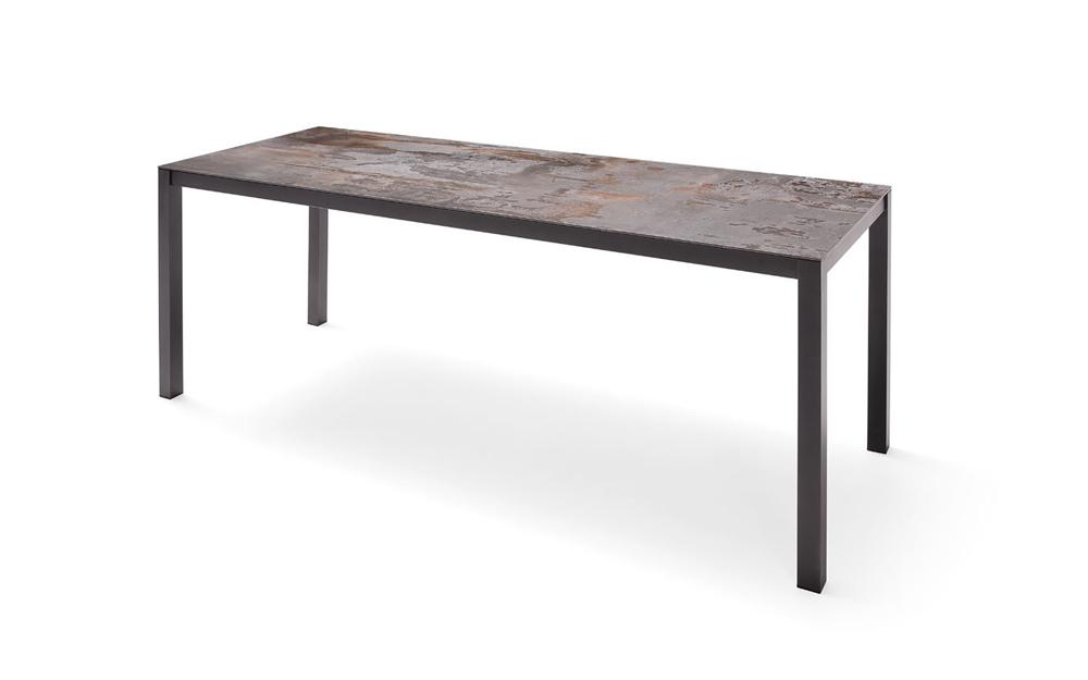 Mesa de cocina 15b-0001 color gris y marrón vista técnica