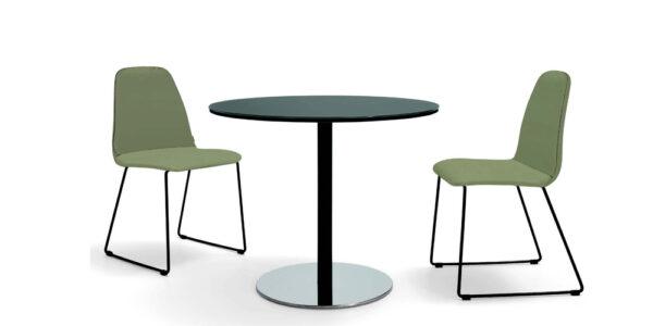 Mesa de cocina redonda 15b-0002 color negro vista técnica
