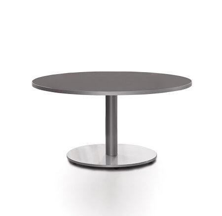 Mesa de cocina redonda 15b-0002 color negro vista frontal