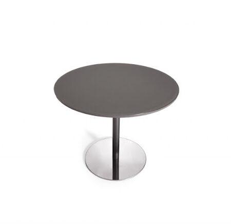 Mesa de cocina redonda 15b-0002 color negro vista top