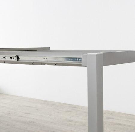 Mesa de cocina extensible 15b-0004 blanco y gris vista técnica