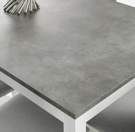 Mesa de cocina extensible 15b-0004 blanco y gris vista top