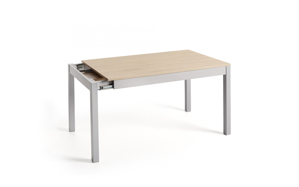 Mesa de cocina 15b-0007 gris y madera vista técnica
