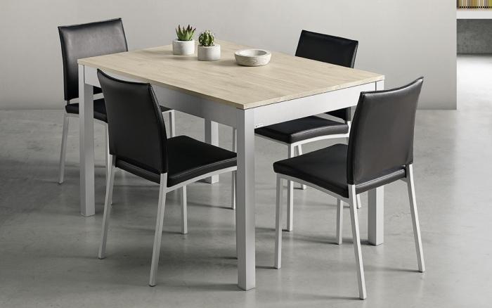 Mesa de cocina 15b-0007 gris y madera vista ambiente