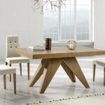 Mesa de comedor y sillas 14b-0012 blanco y madera vista ambiente cerrada