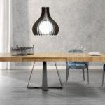 Mesa de comedor 14b-0013 color negro y madera vista ambiente frontal