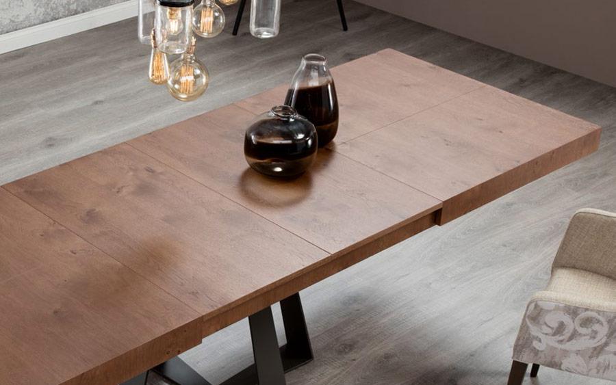 Mesa de comedor 14b-0013 color negro y madera vista ambiente top
