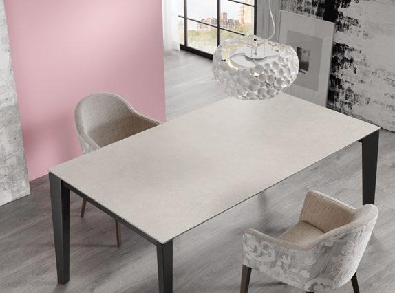 Mesa de comedor 14b-0014 color negro y beige vista ambiente top