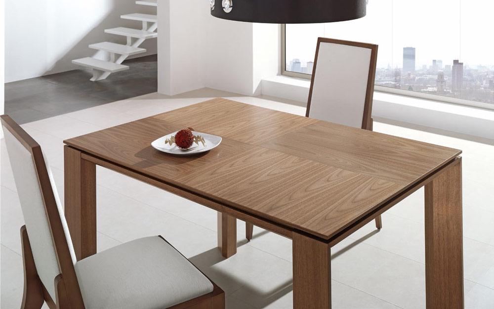 Mesa de comedor extensible 14b-0015 madera vista ambiente cerrada