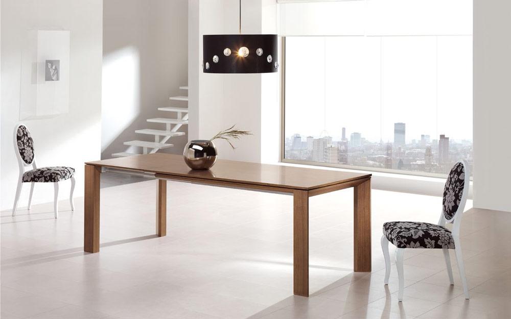 Mesa de comedor 14b-0015 madera vista ambiente