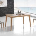 Mesa de comedor extensible 14b-0017 madera vista ambiente cerrada