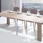 Mesa de comedor 14b-0018 madera beige detalle abierta