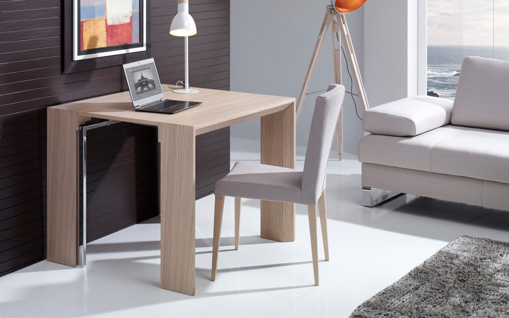 Mesa de comedor 14b-0018 madera beige detalle extensible