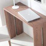 Mesa de comedor 14b-0018 madera vista de detalle top cerrada