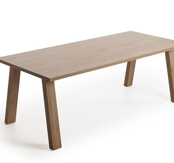 Mesa de comedor 14b-0027 madera oscuro vista técnica