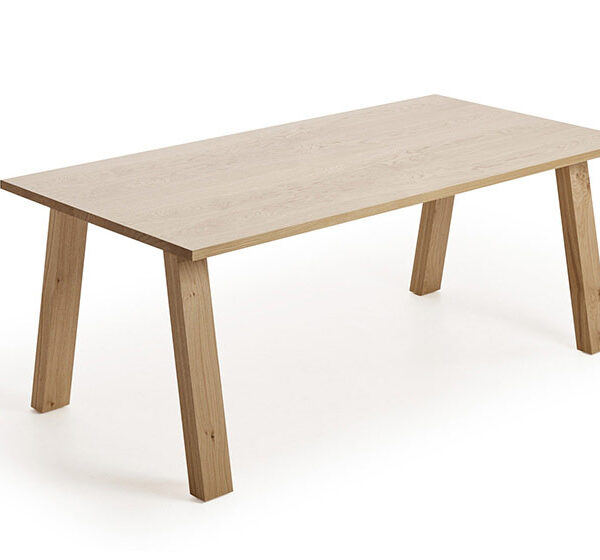 Mesa de comedor 14b-0027 madera natural vista técnica