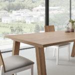 Mesas y sillas de comedor 14b-0027 color blanco y madera vista ambiente de detalle