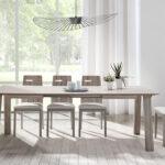 Mesa y sillas de comedor 14b-0027 color blanco y madera vista ambiente frontal