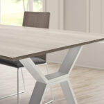 Mesa y sillas de comedor 14b-0027 color blanco y madera vista de detalle