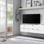 Mueble tv de dormitorio juvenil 12d-0007 color blanco vista de detalle