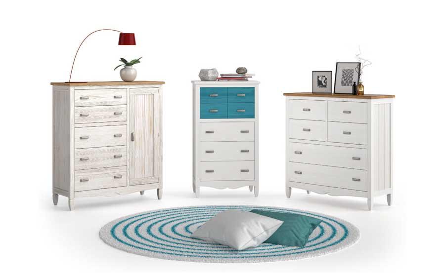 Muebles de dormitorio 11a-0037 color beige vista de detalle