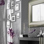 Recibidor con espejo 13c-0007 color negro con dorado vista de detalle