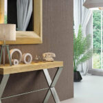Recibidor con espejo 13c-0008 madera con plateado vista de detalle