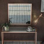 Recibidor con espejo 13c-0009 color cobre con cristal vista de detalle