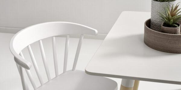 Sillas de cocina 15c-0008 color blanco y madera vista detalle